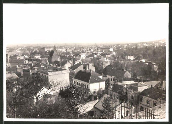 Fotografie Fotograf unbekannt, Ansicht Mödling, Blick über die Stadt