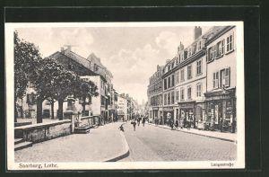 AK Saarburg, Langestrasse mit Geschäften