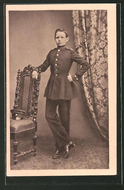 AK Paul von Hindenburg als Kadett in Wahlstatt um 1860