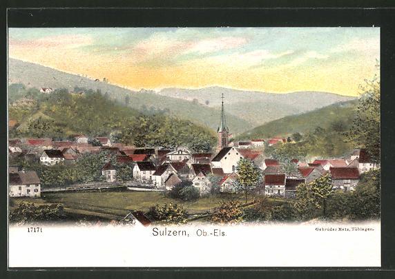 AK Sulzern, Ortsansicht mit Kirche