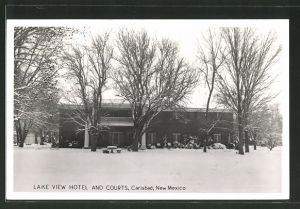 AK Carlsbad, NM, Lake View Hotel and courts im Winter