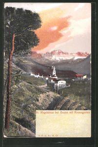 AK Boten, St. Magdalena mit Rosengarten