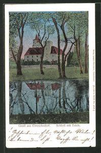 Luna-AK Erbreichsdorf, Schloss mit Teich