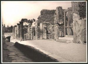 Fotografie Fotograf unbekannt, Ansicht Pompeji, Strasse der Ruinenstadt