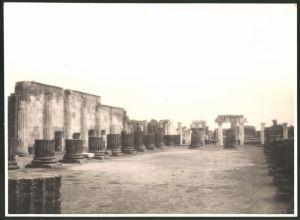 Fotografie Fotograf unbekannt, Ansicht Pompeji, Tempelruine