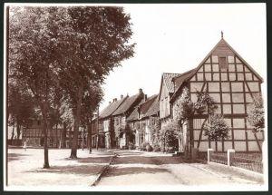 Fotografie Fotograf unbekannt, Ansicht Bad Essen, Fachwerkhäuser im Ort