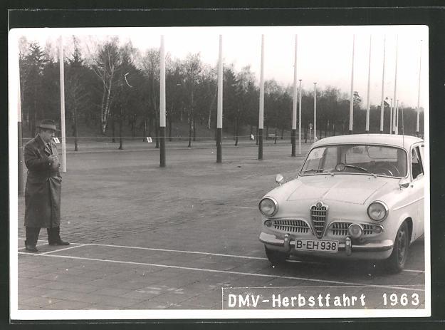 AK Alfa Romeo Giulietta bei der DMV-Herbstfahrt 1963