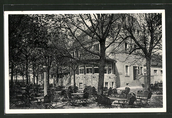 AK Dresden-Hellerau, Garten der Waldschänke Hellerau Nr. 7546221 ...