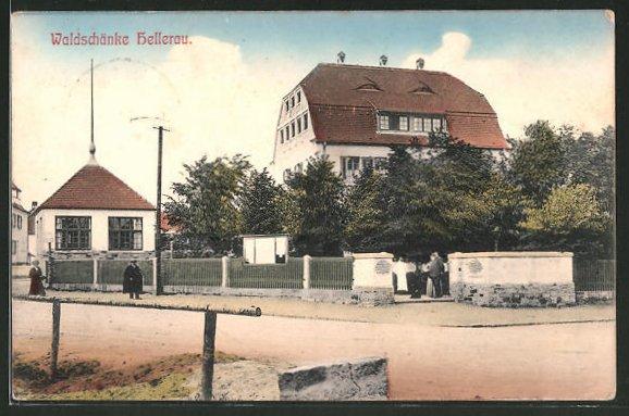 Ak Dresden Nord Hellerau Wilschdorf, Blick auf die HO Gaststätte ...