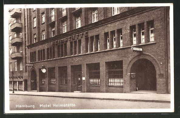 AK Hamburg-St.Georg, Hotel-Restaurant Heimstätte
