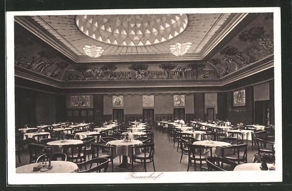 AK Berlin-Tiergarten, Restaurant Bayernhof, Potsdamer Strasse 10-11, Innenansicht
