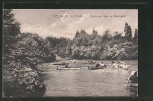 AK Köln-Lindenthal, Partie am See im Stadtwald