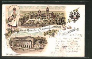 Lithographie Heilbronn, Kunst-Gewerbe- und Industrie-Ausstellung 1897, Ausstellungsgelände