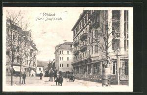 AK Villach, Blick in die Franz Josef-Strasse