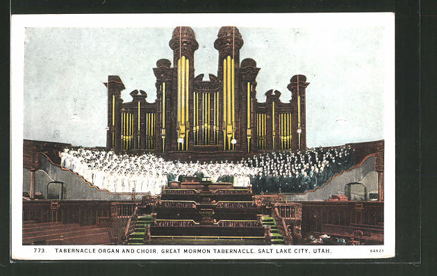 AK Salt Lake City, UT, Tabernacle Organ and Choir, great Mormon Tabernacle