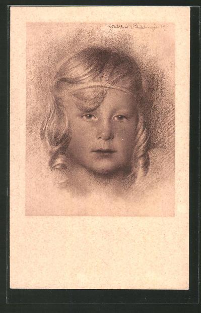 Künstler-AK Walter Schachinger: Mädchen-Porträt