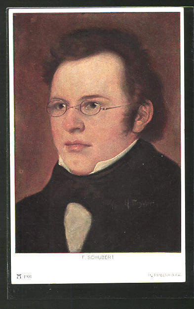 Künstler-AK Hermann Torggler: F. Schubert, Portrait des Musikers