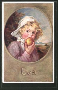 Künstler-AK K. Barth: Eva, Kind mit Apfel