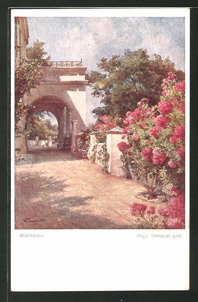 Künstler-AK Hugo Darnaut: Rosenhain, Herrschaftliches Anwesen