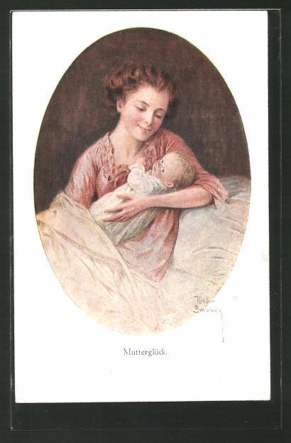 Künstler-AK Ruab Gnischaf: Mutterglück