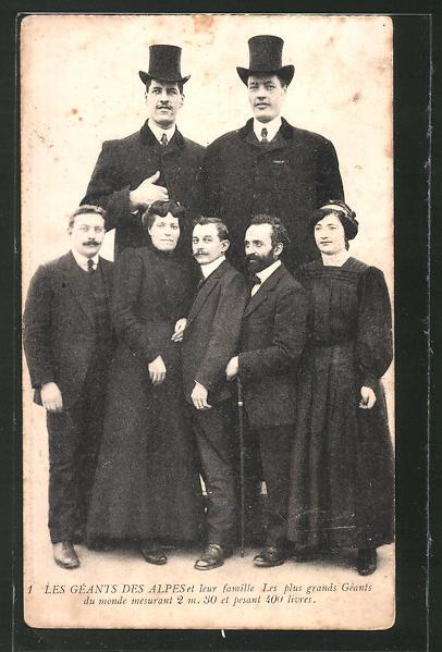 AK Les Géants des Alpes et leur famille, Riesen