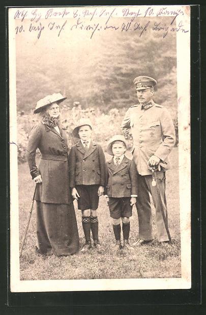 AK Grossherzog Ernst Ludwig von Hessen-Darmstadt mit Familie