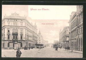 AK Olmütz, Blick in die Franz Josef-Strasse