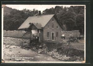 AK Antonsthal, Zerstörung nach Unwetter 1931