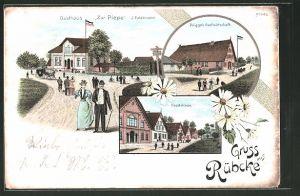 Lithographie Rübke, Prigge's Gasthaus, Gasthaus