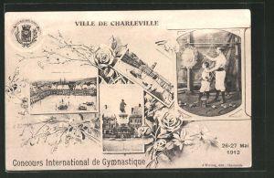 Lithographie Charleville, Concours International de Gymnastique