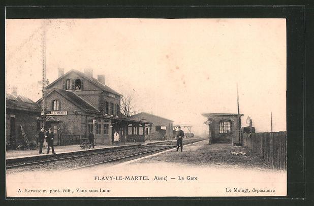 AK Flavy-le-Martel, La Gare