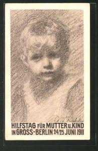 AK Hilfstag für Mutter u. Kind in Gross-Berlin 1911, Kleinkind