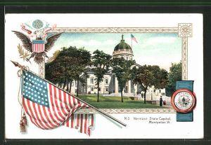 Präge-AK Montpelier, VT, Vermont State Capitol