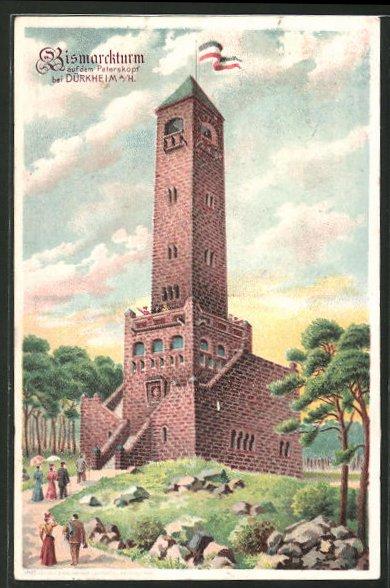 AK Bad Dürkheim, Partie am Bismarckturm auf dem Peterskopf