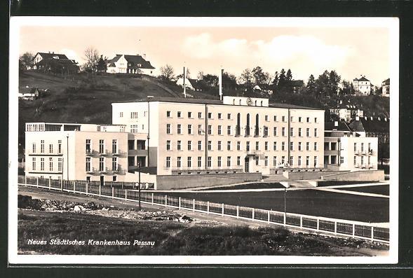 AK Passau, Neues Städtisches Krankenhaus Nr. 7562913 - oldthing ...