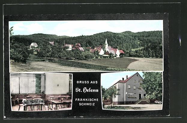AK St. Helena, Gasthaus zum Naifertal, Ortsansicht