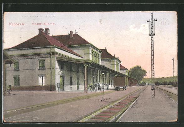 AK Kaposvar, Vasuti állomas, Bahnhof