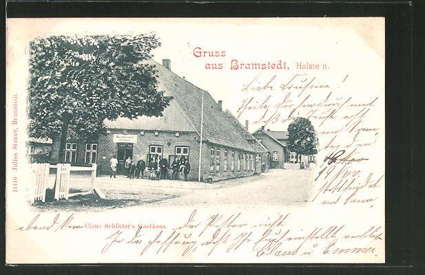 AK Bramstedt, Blick auf Claus Schlüter's Gasthaus