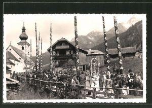 Foto-AK St. Michael im Lungau, Gesellschaftsfahrt 1956