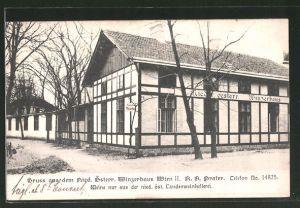 AK Wien, Gasthaus Niederösterr. Winzerhaus, Wiener Prater