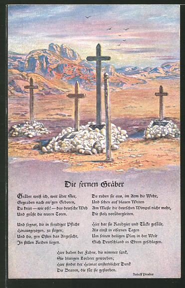AK Kolonialkriegerdank, Deutsche Soldatengräber in Südwestafrika