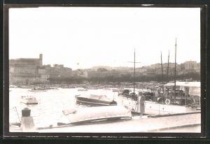 Fotografie Fotograf unbekannt, Ansicht Cannes, Boote liegen im Hafen