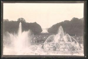Fotografie Fotograf unbekannt, Ansicht Versailles, Springbrunnen im Schlosspark