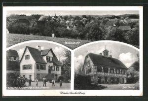 AK Hinterbüchelberg, Handlung von A. Dietrich, Schulhaus