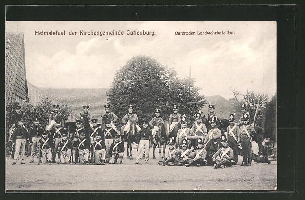 AK Katlenburg, Heimatfest der Kirchengemeinde, Osteroder Landwehrbataillon