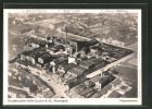 AK Hamburg-Wandsbek, Norddeutsche Hefeindustrie A.-G., Fliegeraufnahme