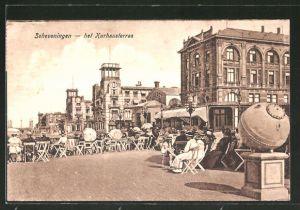 AK Scheveningen, het Kurhausterras