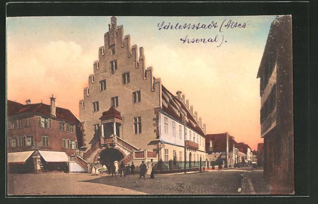 AK Schlettstadt / Schlestadt, Altes Arsenal / L'Ancien Arsenal