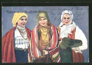 AK Typen aus Russisch-Polen, Frauen in Tracht