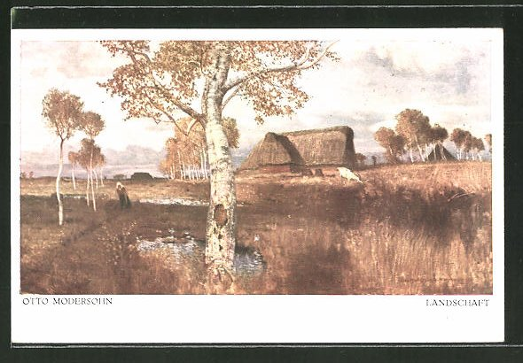 Künstler-AK Worpsweder Künstlerkolonie: Landschaft, Otto Modersohn